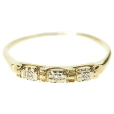 14K 2.6mm Classic Simple Retro Wedding Band Ring Size 7.25 Yellow Gold [CXXS]