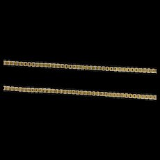 """14K 0.7mm Square Chain Classic Box Link Necklace 17.75"""" Yellow Gold [CXXS]"""