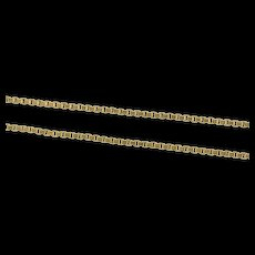 """14K 1.2mm Square Chain Simple Classic Box Link Necklace 18"""" Yellow Gold [CXXS]"""