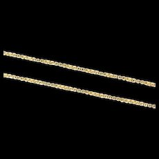 """14K 0.9mm Rolling Twist Box Square Chain Link Necklace 18.75"""" Yellow Gold [CXXS]"""