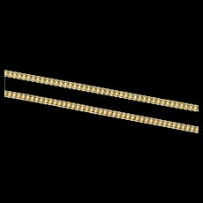 "18K 1.8mm Fancy Curb Link Long Classic Chain Necklace 23.25"" Yellow Gold [CXXS]"