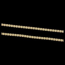 "14K 1.5mm Squared Fancy Retro Long Box Chain Necklace 30.5"" Yellow Gold [CXXS]"