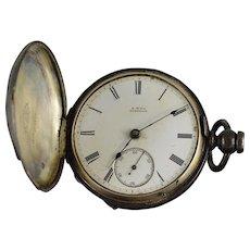 American Waltham Watch Co. 1880 11 Jewel 18s 54mm Case Key Wind Pocket Watch [QPQC]