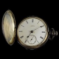 American Waltham Watch Co. 1880 11 Jewel 18s 54mm Case Key Wind Pocket Watch [QWXK]