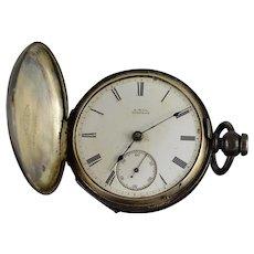 American Waltham Watch Co. 1880 11 Jewel 18s 54mm Case Key Wind Pocket Watch [QWXK]