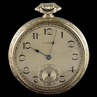 Howard 44mm Engraved Case 17 Jewel Pocket Watch [QWXQ]