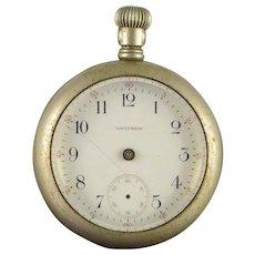 Waltham 1908 56mm Case 7 Jewel 18s Grade No.1 Parts Pocket Watch [QWXQ]