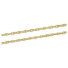 "Gold Filled 1.8mm Rolling Cable Twist Rope Chain Link Necklace 24""  [CXXQ]"