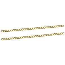 """18K 1.8mm Classic Curb Link Simple Chain Necklace 23"""" Yellow Gold [CXXS]"""