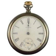 Waltham 1903 50mm Case 15 Jewel 16s Grade 618 Pocket Watch [QWXQ]