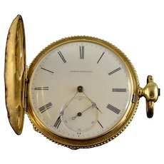 Ernest Francillon of Longines 1800s Key Wind Beautiful Enamel Pocket Watch [QWXK]