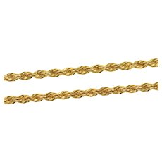 """Gold Filled 2.4mm Thick Classic Rope Twist Fancy Chain Necklace 23.75""""  [CXXS]"""