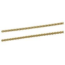 "14K 1.4mm Wavy Link Flat Serpentine Fancy Chain Necklace 20.5"" Yellow Gold [CXXS]"