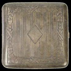 Sterling Silver Engraved TDD Monogram 1916 Cigarette Case   [CXXT]