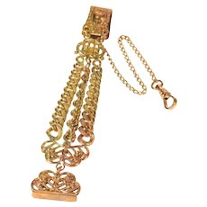 Victorian Ornate Scrollwork Chain Watch Fob [CXXW]
