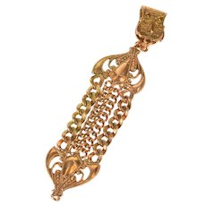 Ornate Scrollwork Chain Elaborate Watch Fob [CXXW]