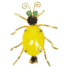 Base Metal Retro 1950's Bug Beetle Insect Fly Statement Pin/Brooch  [CXXK]