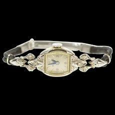 Art Deco Bulova Diamond Inset Ornate Ladies Women's Watch [CXQX]