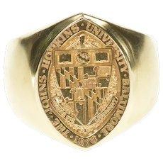 14K 1960's Johns Hopkins University Men's Class Ring Size 9.5 Yellow Gold [CXXS]