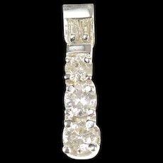 14K 0.48 Ctw Classic Tiered Diamond Statement Pendant White Gold [CXQQ]