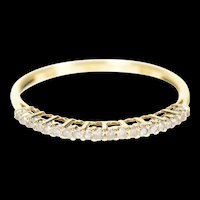 10K Simple Classic Diamond Wedding Band Ring Size 7 Yellow Gold [CXXP]