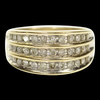 10K 0.48 Ctw Diamond Tiered Channel Graduated Ring Size 7 Yellow Gold [CXXP]