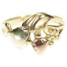 10K Black Hills Leaf Vine Nature Motif Statement Ring Size 4.75 Yellow Gold [CXQC]