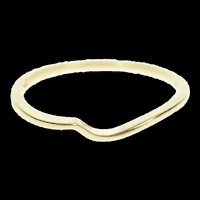 10K Wavy Contour Curvy Plain Wedding Band Ring Size 6.75 Yellow Gold [CXXP]
