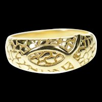 10K Ichthys Christian Faith Jesus Fish Symbol Ring Size 6.75 Yellow Gold [CXXW]