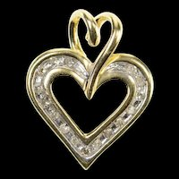 10K Classic Simple Heart Love Symbol Pendant Yellow Gold [CXQX]