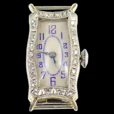 Art Deco Diamond Ornate Abra Watch Co Mvmt. Women's Watch [CXQC]