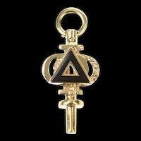 14K Delta Phi Fraternity Retro Ornate Charm/Pendant Yellow Gold [CXQX]