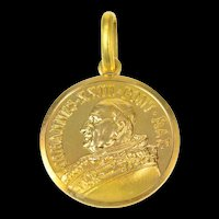 18K Pope John XXIII Catholic Church Faith Charm/Pendant Yellow Gold [CXQQ]