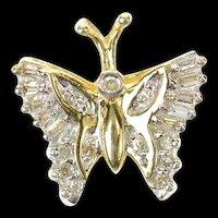10K Diamond Classic Butterfly Change Symbol Pendant Yellow Gold [CXQQ]