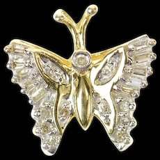 10K Diamond Classic Butterfly Change Symbol Pendant Yellow Gold [CXQQ]