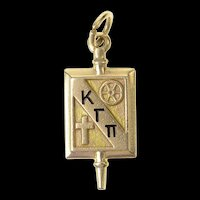 14K 1940's Kappa Gamma Pi Catholic Women Leaders Charm/Pendant Yellow Gold [CXQQ]
