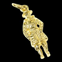 18K 3D William Shakespeare English Writer Charm/Pendant Yellow Gold [CXQQ]
