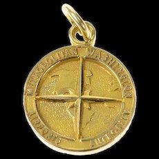 14K Washington Metropolitan Airport Authority Charm/Pendant Yellow Gold [CXQQ]