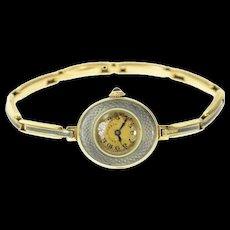 Art Deco Spaulding & Co. Enamel Detail Women's Watch [CQXT]