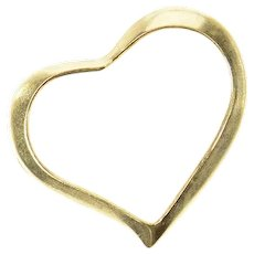14K Curvy Heart Love Symbol Classic Charm/Pendant Yellow Gold [CXQC]