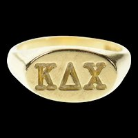 10K Kappa Delta Chi Sorority Embossed Oval Ring Size 5.5 Yellow Gold [CQXK]