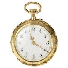 Victorian Ornate Swiss 23.4mm Face Pocket Watch [CXQC]
