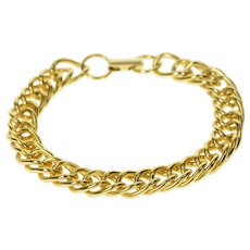 "Gold Filled 9.2mm Classic Oval Link Retro Charm Bracelet 6.75""  [CQXQ]"