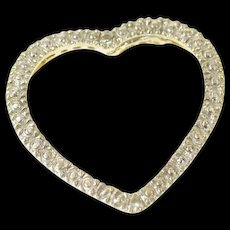 10K Diamond Accent Heart Love Symbol Classic Pendant Yellow Gold [CQXQ]