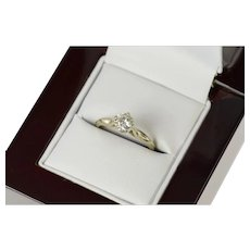14K 0.46 Ct Diamond Classic Solitaire Engagement Ring Size 4 White Gold [CQXK]