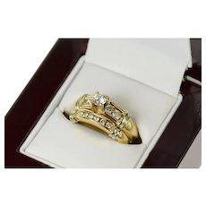 10K 0.50 Ctw Classic Diamond Engagement Bridal Ring Size 6.75 Yellow Gold [CQXF]