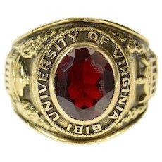 10K 1961 University of Virginia Men's Class Ring Size 9 Yellow Gold [CQXK]