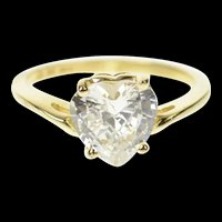 14K Heart Solitaire Bypass Travel Engagement Ring Size 5 Yellow Gold [CQXT]