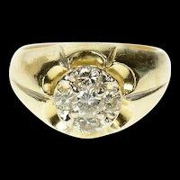 14K 0.87 Ctw Diamond Cluster Retro Statement Ring Size 8.25 Yellow Gold [CQXS]