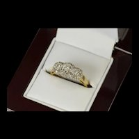 14K 0.60 Ctw Classic Diamond Halo Engagement Ring Size 7 Yellow Gold [CQXK]